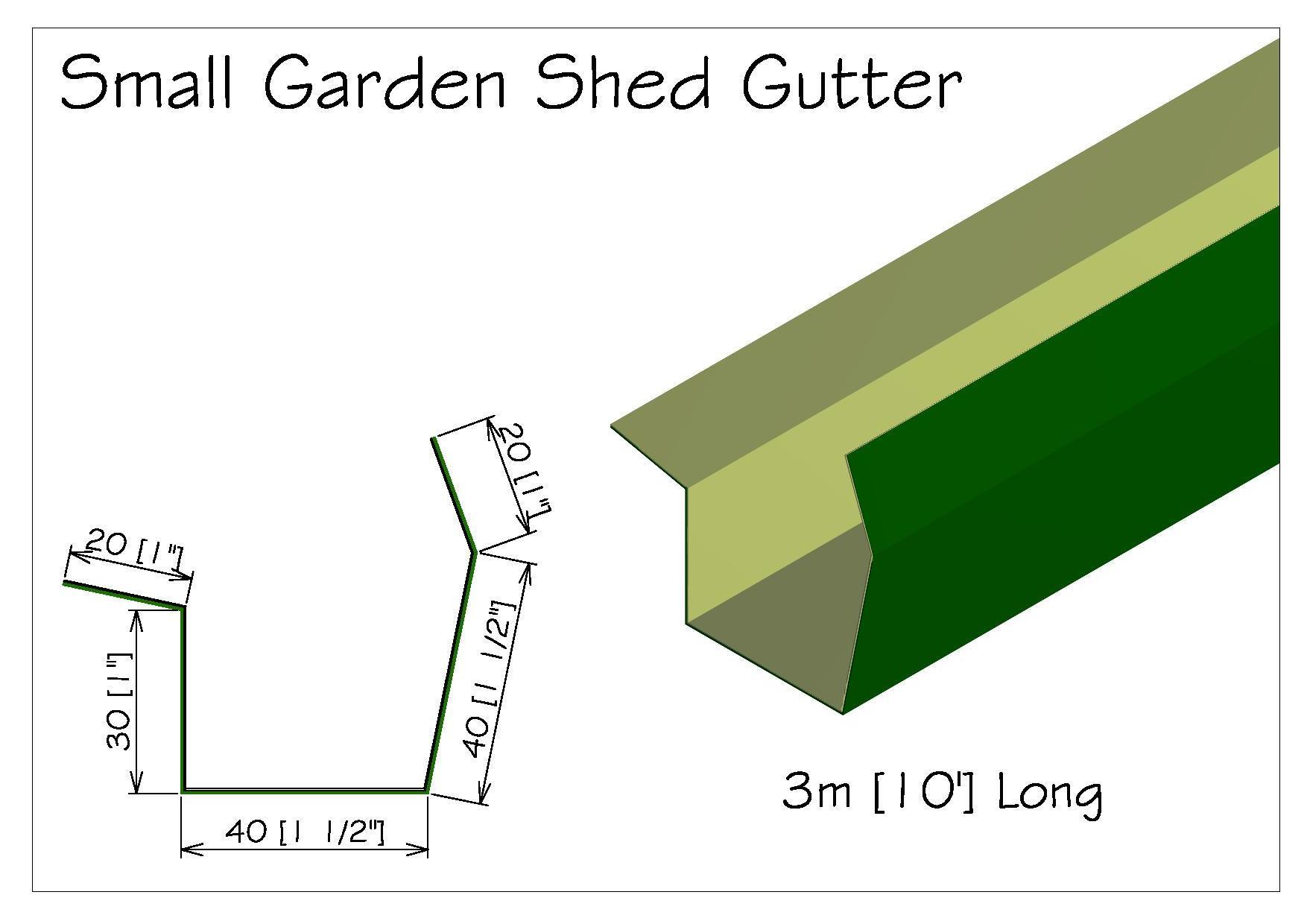 Torkela Access Garden Shed Gutter